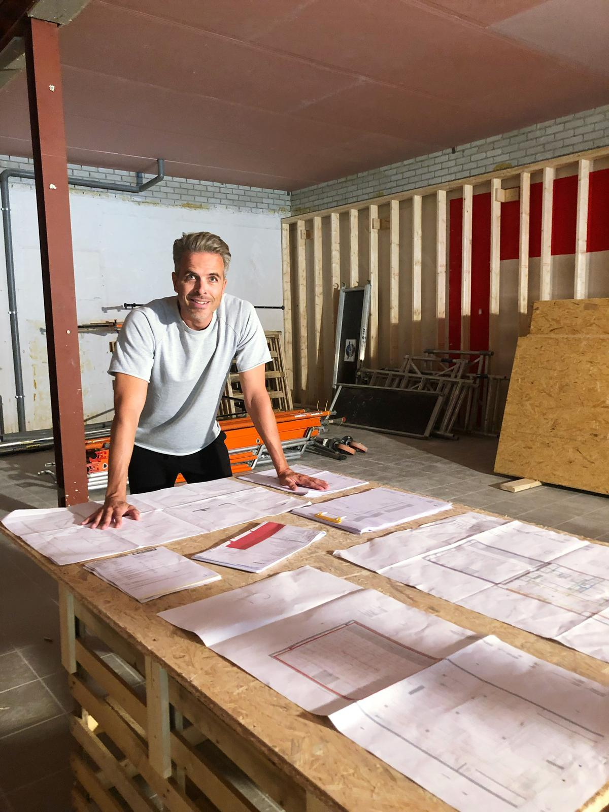 August 2018 - Construction of the 3rd studio Rocycle De Pijp