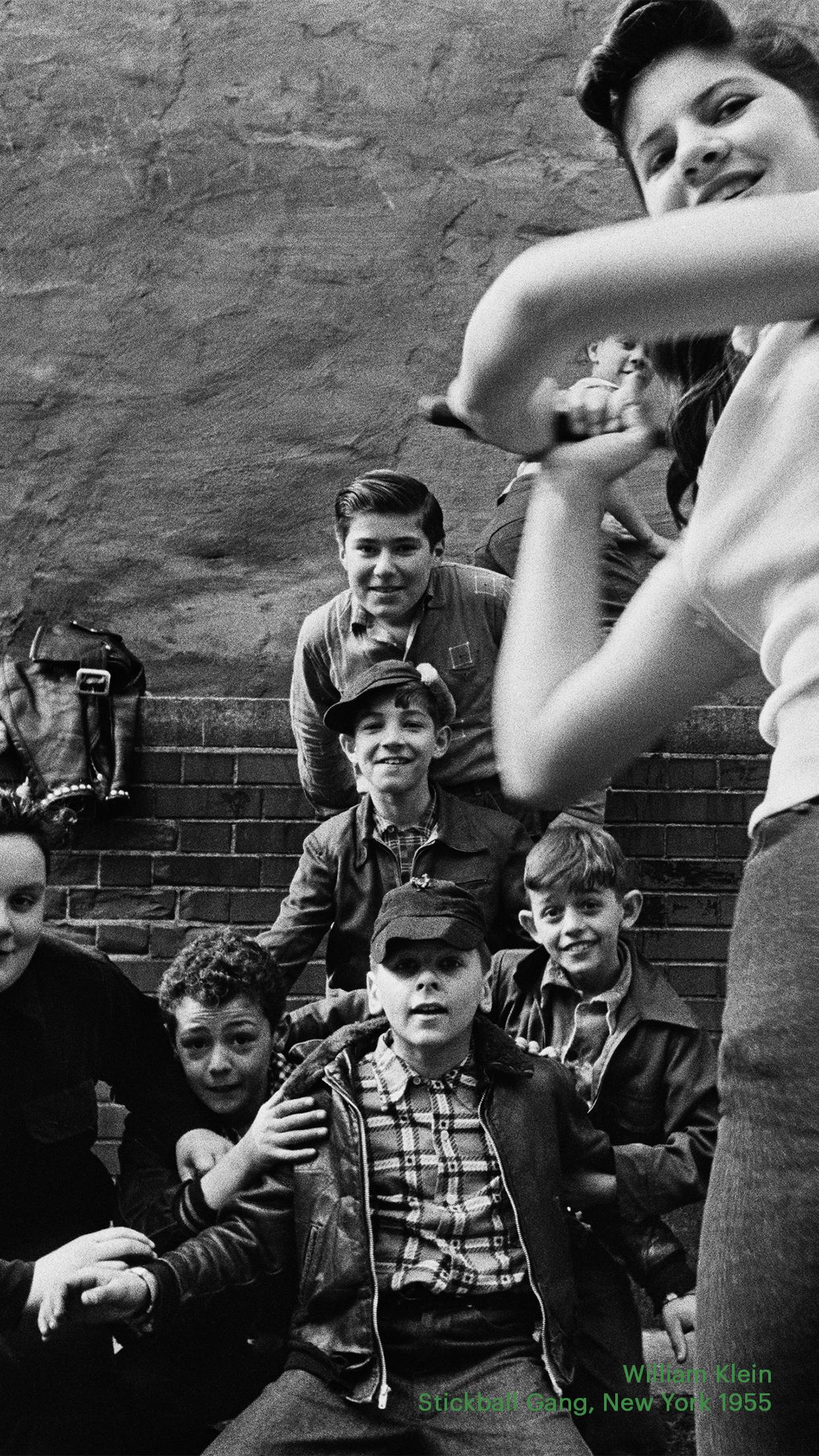 Casa, William Klein's 1955 work Stickball Gang, New York