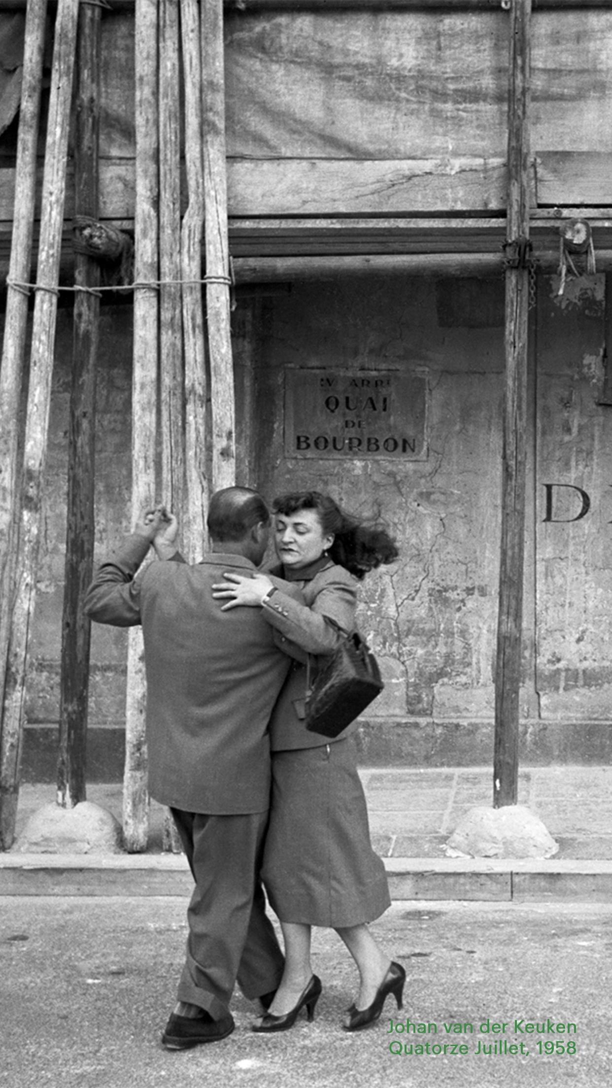 Johan van der Keuken's 1958 photograph Quatorze Juillet.