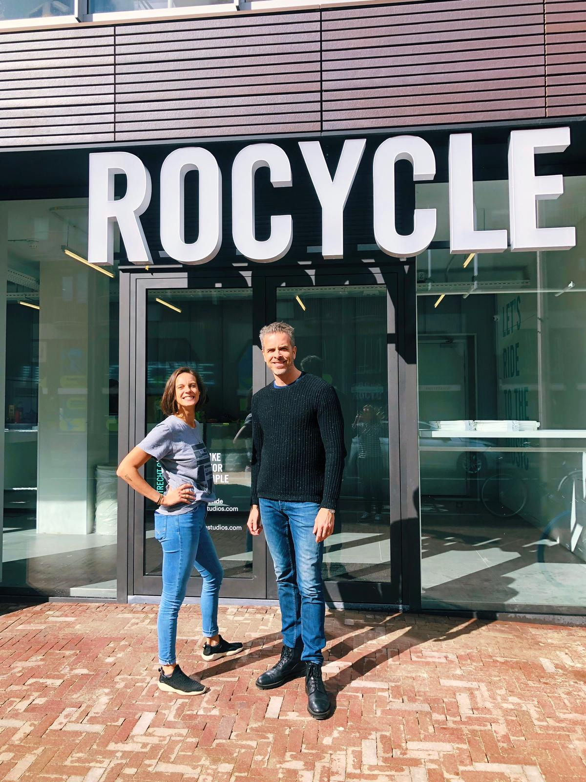 2019 - Roxy and Rogier at the opening of the first studio outside of Amsterdam, Rocycle Utrecht