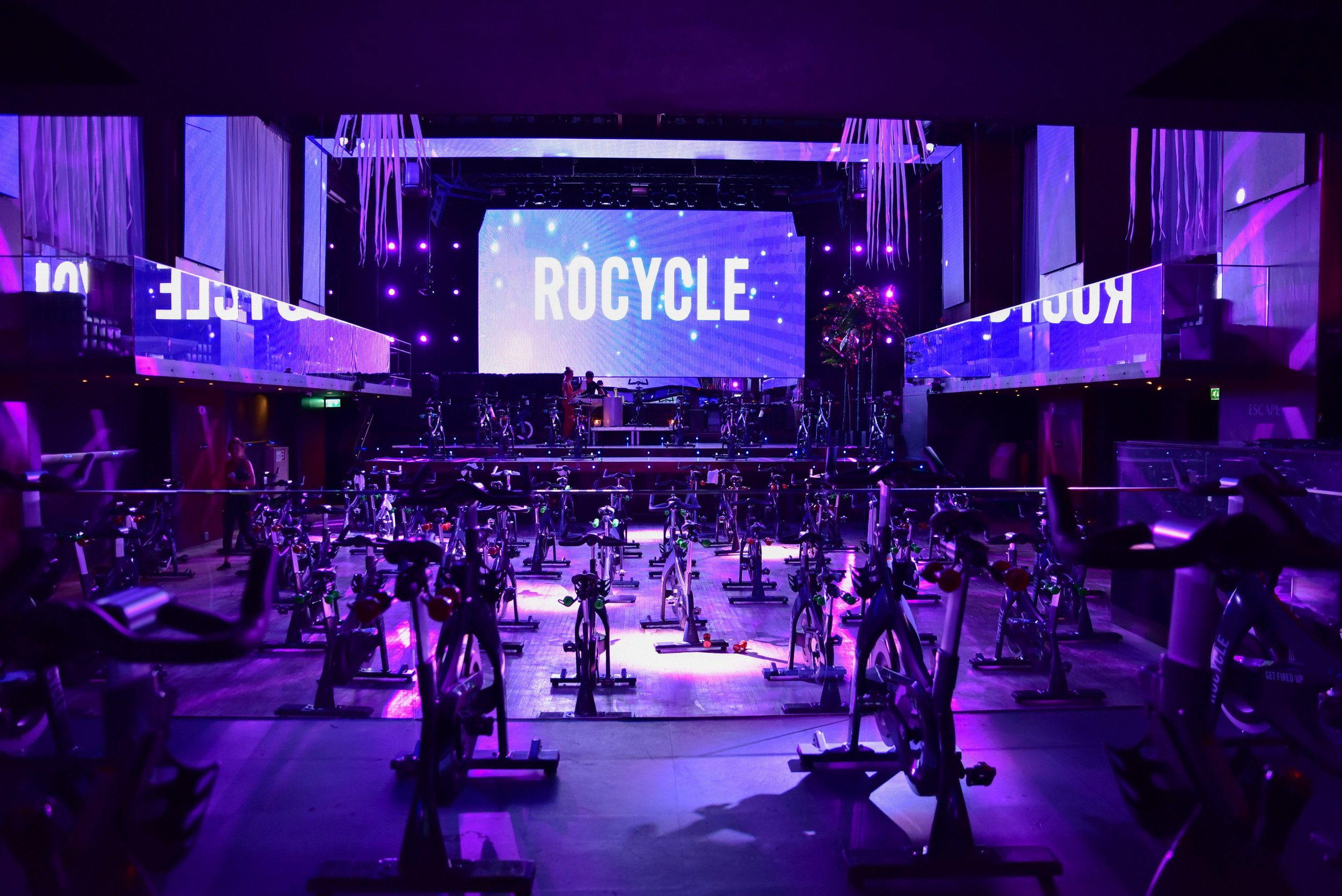 The world's largest fitness studio at Club Escape
